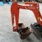 Verkoop Kubota 800kg met verstelbare rupsen en 2 bakken - Jan Zyde Diksmuide